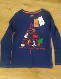 NEW!!! Next girls Christmas top age 12
