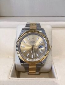 Rolex Datejust II 126300 NEW Box and Papers 2017 Silver Baton Dial Watch
