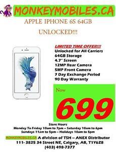 Apple iPhone 6s 64GB Unlocked $699 - CLEARANCE SALE!!!