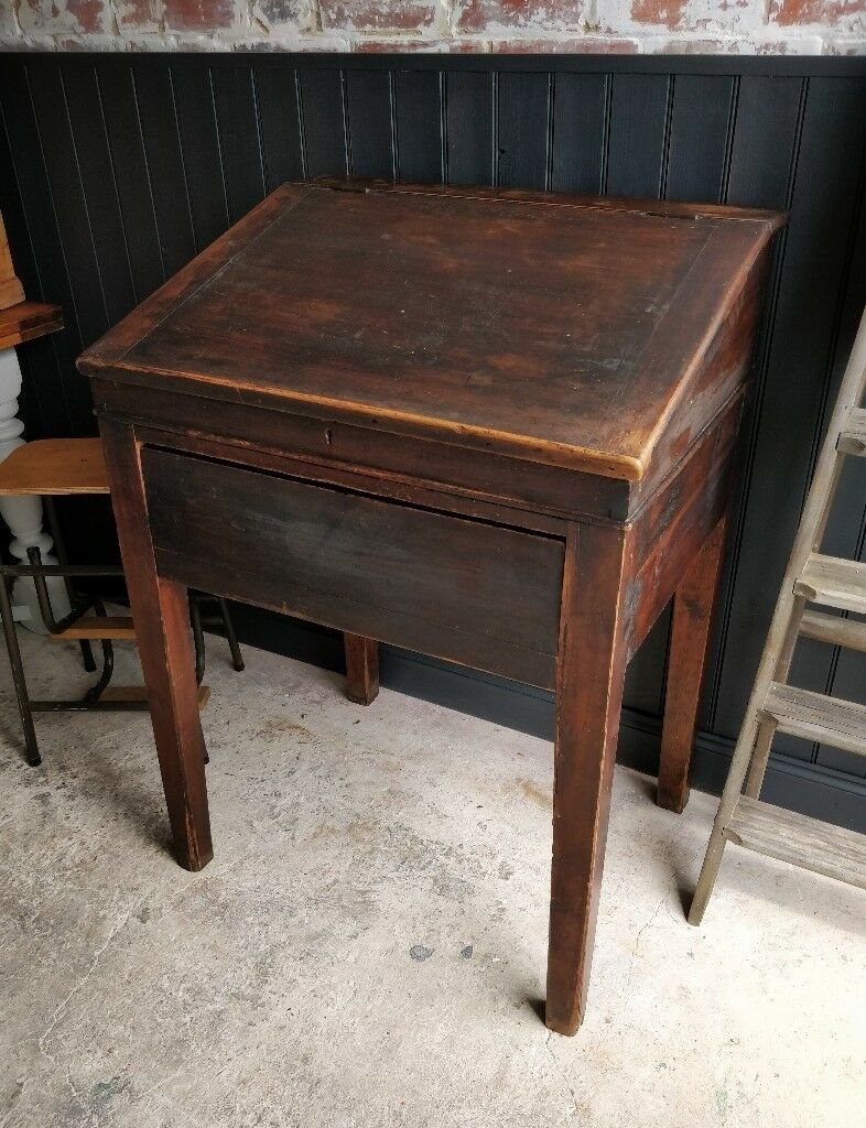 Antique teachers desk, school desk, restaurant desk, reception desk, vintage  desk, - Antique Teachers Desk, School Desk, Restaurant Desk, Reception Desk