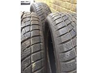 Winter tyres as new 205 55 16 8mm Ford Focus