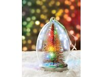 Light Up Glass Christmas Tree Bauble