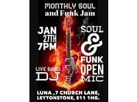 Funk and Soul Open Mic January 27th