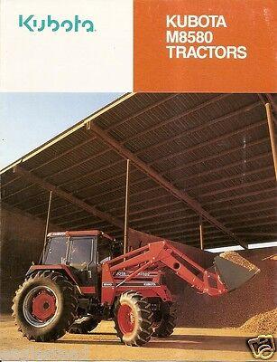 Farm Tractor Brochure - Kubota - M8580 - 1991 F1582
