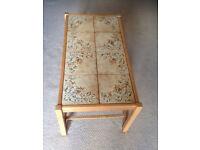 rectangle coffee table tiled retro