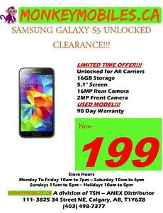 Samsung Galaxy S5,S6,S7 UNLOCKED FROM $199 ***CLEARANCE LIMITED TIME OFFER***