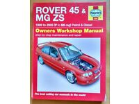Rover 45 / MG ZS Haynes Owners workshop Manual