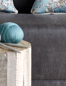 Osborne & Little fabric GATOR Collection Prairie -3m - faux alligator skin