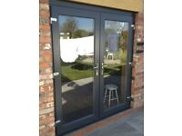 DARK GREY UPVC FRENCH DOORS BRAND NEW 1100MMX2100MM