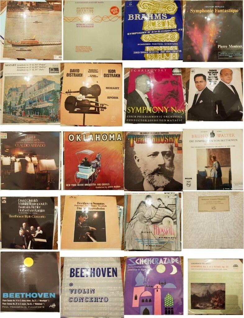 "Vinyl Joblot c. 40 x 12"" vinyl vintage bundle of classical music"
