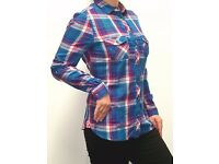 165 pieces of Ladies full sleeve fancy funnel shirt ( wholesale / joblot )