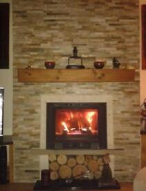 Brand new 5-10kw new style inset log wood burning stove