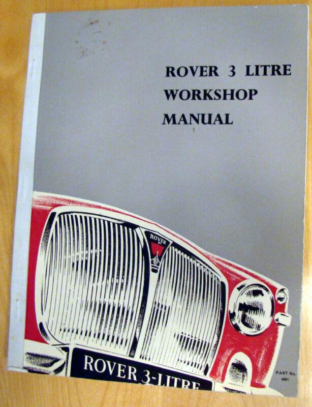 1965-66 Rover 3 Litre Workshop Manual