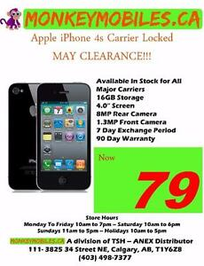 MAY CLEARANCE SALE!!! Apple iPhone 4s Locked Clearance!!