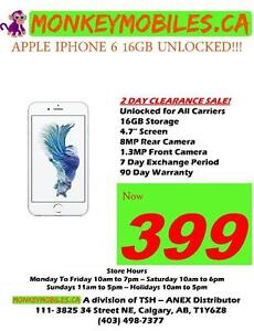 Apple iPhone 6 16GB Unlocked $399 - 2 DAY CLEARANCE SALE!!!