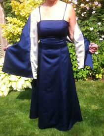 Beautiful Blue Evening Gown with Matching Wrap size 12