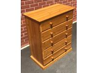 Solid Pine Chest Of Drawers & Matching Bedside Cabinets