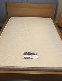 Ikea double bed and super flex foam mattress for sale