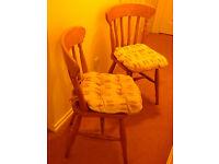 2 Pine Kitchen Chairs