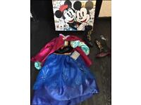 *NEW* DISNEY FROZEN ANNA DRESS & BOOTS WITH GIFTBOX