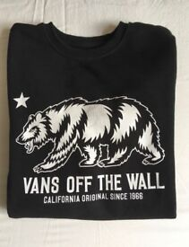 "Vans Kid's ""Off The Wall"" black sweatshirt, size medium."
