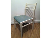 Vintage white dining or desk chair