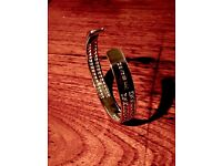 Beautiful brand new 925 silver bangle with 4 rows of pav�� set stones