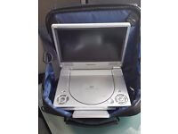 """Ferguson LDVD81 - 8"""" Portable DVD player with accessories and case."""