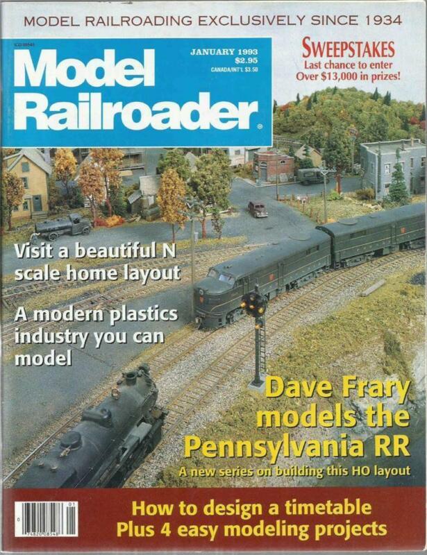 Model Railroader January 1993 Plastics Plant & Pullman Hy-Cube Boxcar Drawings