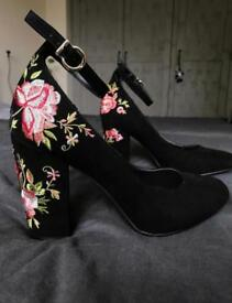 M&S heels with ankle straps