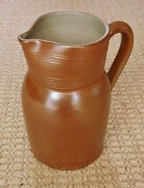 Gres du Berry Pottery Jug / Pitcher Rustic French Farmhouse Country Kitchen Stoneware Ornament Vase