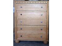 5 Drawer Chest of Drawers 120cm Tall