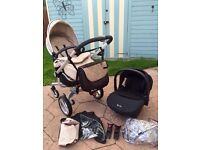 Silver Cross Surf with Car Seat and Accessories