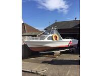 Shetland 535 fishing boat 18 ft fo sale