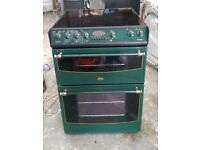 6 MONTHS WARRANTY Green Belling 60cm, double oven electric cooker FREE DELIVERY