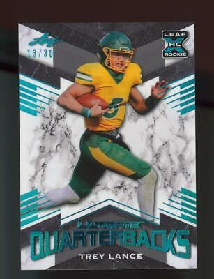 2021 Leaf Ultimate Quarterbacks XRC Light Blue Trey Lance /30 RC Rookie