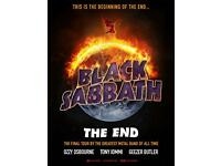 1x STANDING TICKET BLACK SABBATH LEEDS FIRST DIRECT ARENA