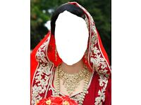 Red and Plum lengha