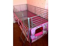 child's bed girls hello kitty single cabin bed play tent