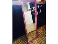 Gorgeous pinks and purple unicorn colours mirror