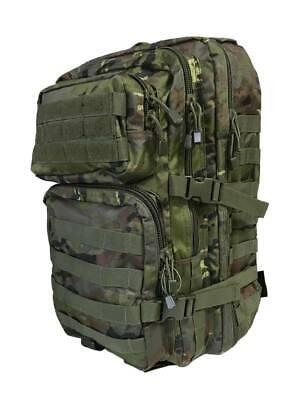 Mochila Asalto 36 litros camuflaje boscoso pixelado, estilo militar ejercito