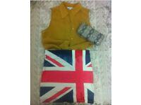 UK flag mini skirt, size S/M, like new, Bershka