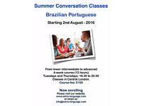 Summer Conversation Classes in Brazilian Portuguese