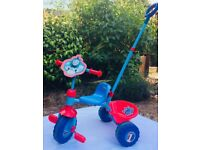 Thomas & friends kids' trike with parent handle and rear bucket