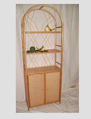 Regal Rattan-Ramin-Regal mit Türen neu Farbe honig ()