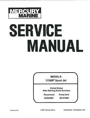 Mercury 175 175XR Sportjet Sport Tracker jet boat drive sea ray manual