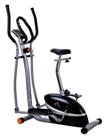 Treadmill, Exercise cycle, V-Fit MCCT1 Combination 2-in-1 Magnetic Cycle and Elliptical Trainer