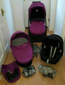 Oyster 3 in 1 travel system pushchair
