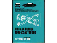 AUTOBOOKS (NOT HAYNES) HILLMAN HUNTER WORKSHOP MANUAL 1966 - 1972