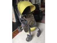 Mylo Buggy / Travel System - Lime Green - With Rain cover and bag accessory